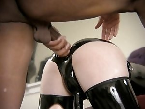 BBC does Tranny doggy